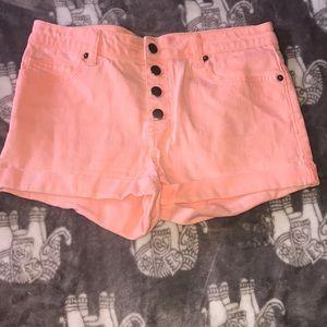 Neon high waist shorts